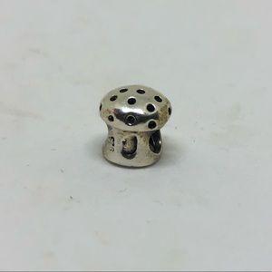 Jewelry - Sterling silver mushroom euro charm